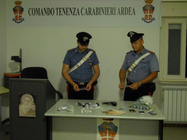 carabinieri droga ardea