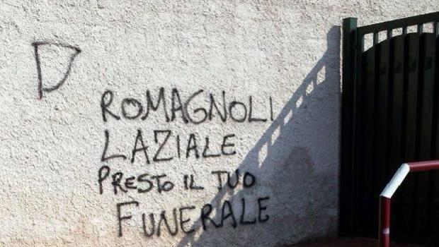 Anzio scritte shock contro alessio romagnoli romagnoli - Scritte muri casa ...