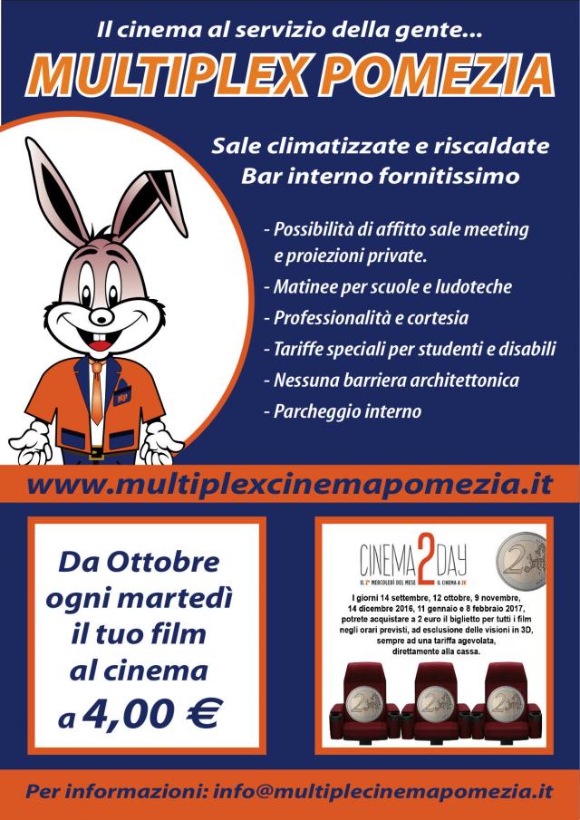 Pomezia multisala multiplex sconti per le scuole con il for Il film della cabina 2017