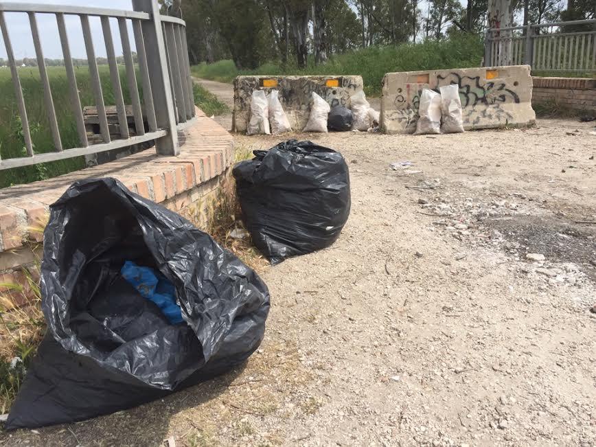 Ostia ancora abbandono di rifiuti all 39 interno della for Interno 1 ostia