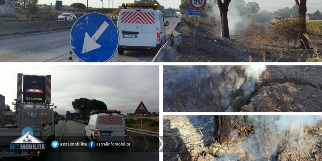 FOTO Latina, in fiamme lo stabilimento Flora Toscana sulla Pontina