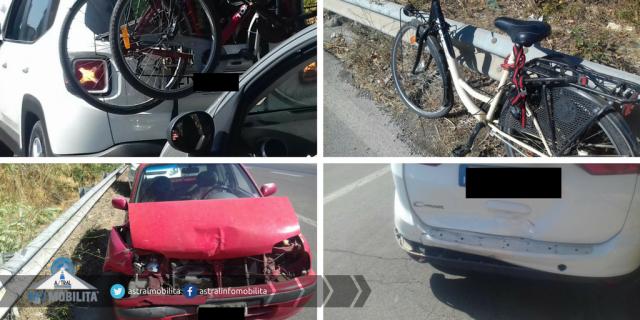 Pontina: auto si scontrano e si ribaltano, tre feriti