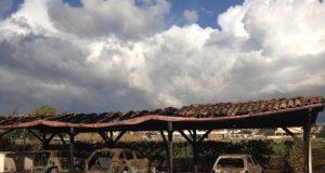 incendio auto Fiorenzo D'Alessandri