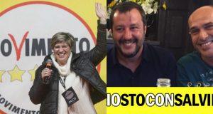 Giuliana Di Pillo e Guido Contu (assieme a Matteo Salvini)