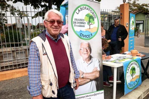 De Donno durante l'ultima campagna elettorale per le elezioni municipali dello scorso novembre 2017