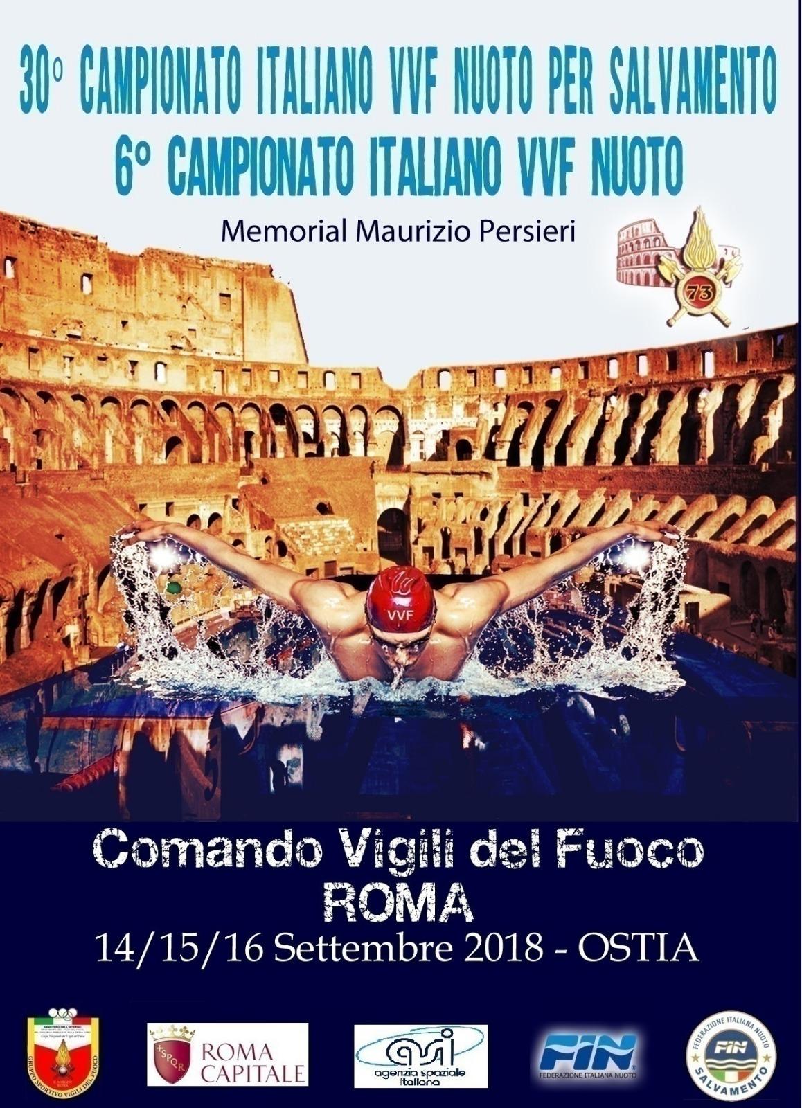 Roma vigili del fuoco e nuoto due eventi in programma ad for Programma arredamenti ostia