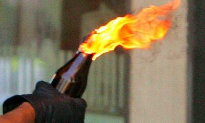 bottiglia incendiaria notte Formia