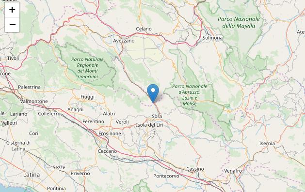 L'Aquila, terremoto di magnitudo 3.1 a Balsorano