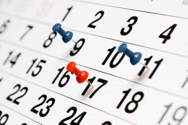 Calendario Giorno.Calendario 2019 Tutti I Ponti E I Giorni Di Festa Del Nuovo