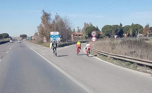 ciclisti pontina