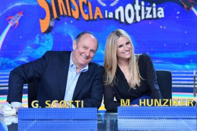Strscia la Notizia: tornanto alla conduzione Gerry Scotti e Michelle Hunziker