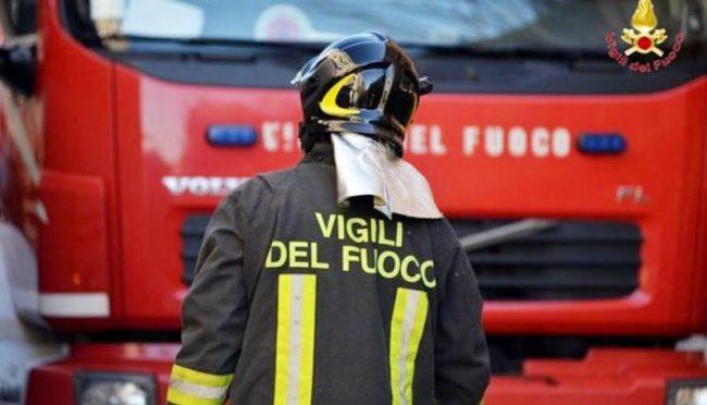 incendio via Flaminia incidente
