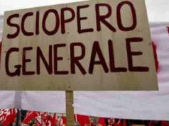 sciopero generale 25 ottobre 2019