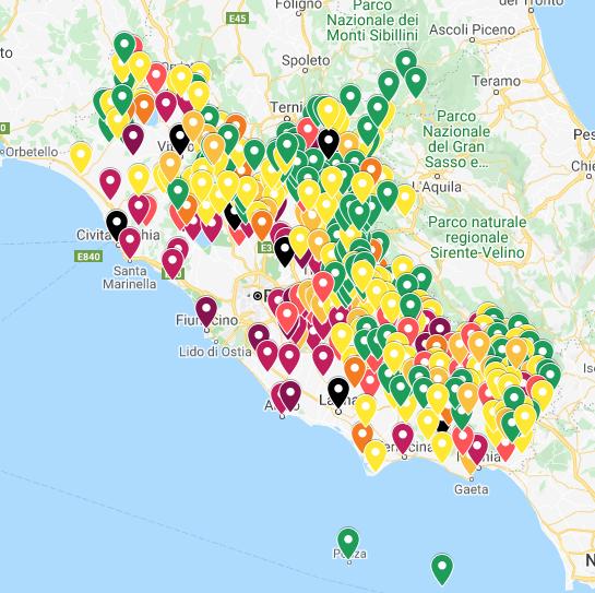 Cartina Roma Ciampino.Coronavirus Lazio La Mappa Aggiornata Dei Contagi Comune Per Comune Cerca Il Tuo