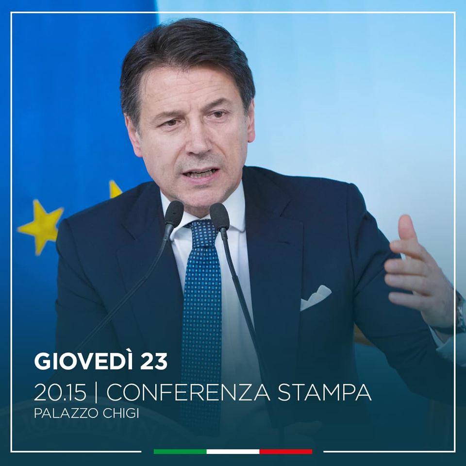 Diretta Conte Oggi  Conferenza Stampa In Live Streaming Video