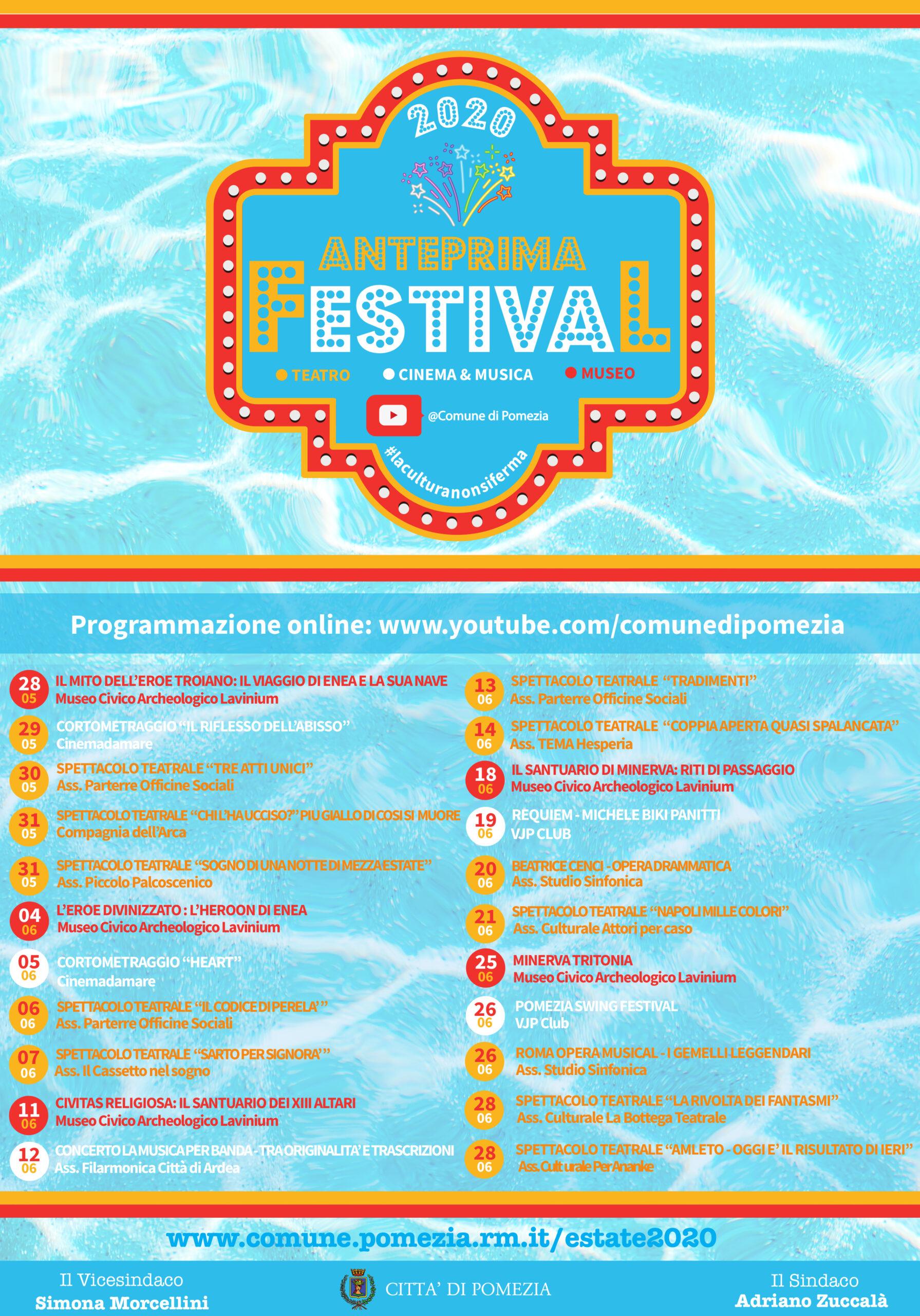 Pomezia, il programma estivo parte intanto sul web: eventi t