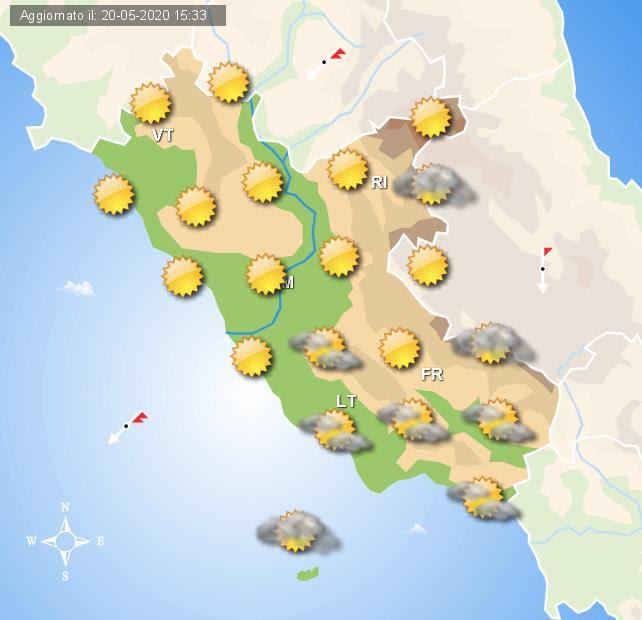 meteo roma 21 maggio 2020