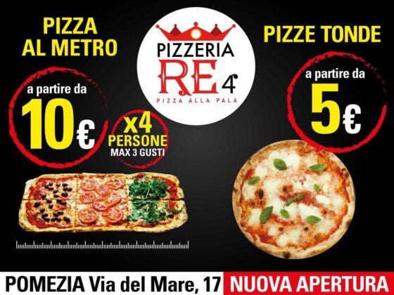 """La pizza """"al metro"""" arriva a Pomezia: mercoledì 5 agosto apre Pizzeria Re 4, dalle 17.00 degustazione gratuita"""