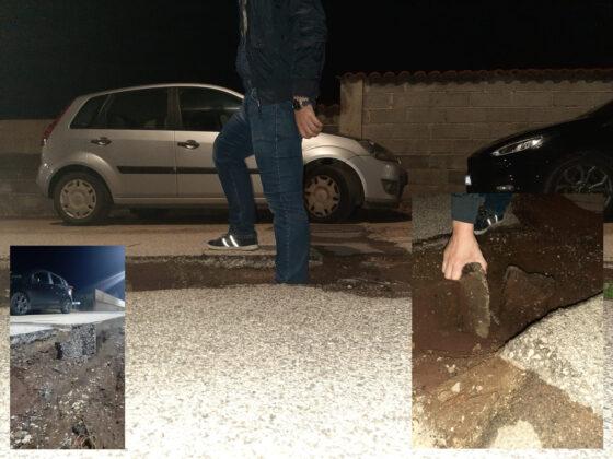 """Pomezia, """"solchi"""" sull'asfalto e una voragine enorme: chiesti interventi urgenti a Campo Jemini (FOTO)"""