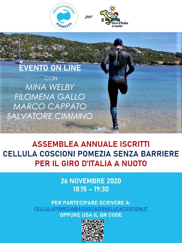 """Pomezia, la Cellula Coscioni per il """"giro di Italia a nuoto"""" che farà tappa anche a Torvaianica: stasera intanto l'assemblea annuale"""