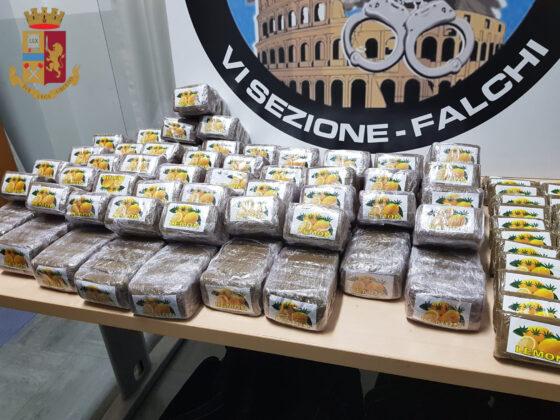 Traffico di droga, operazione della Squadra Mobile di Roma: arrestati 2 uomini e sequestrati 37 chili di hashish