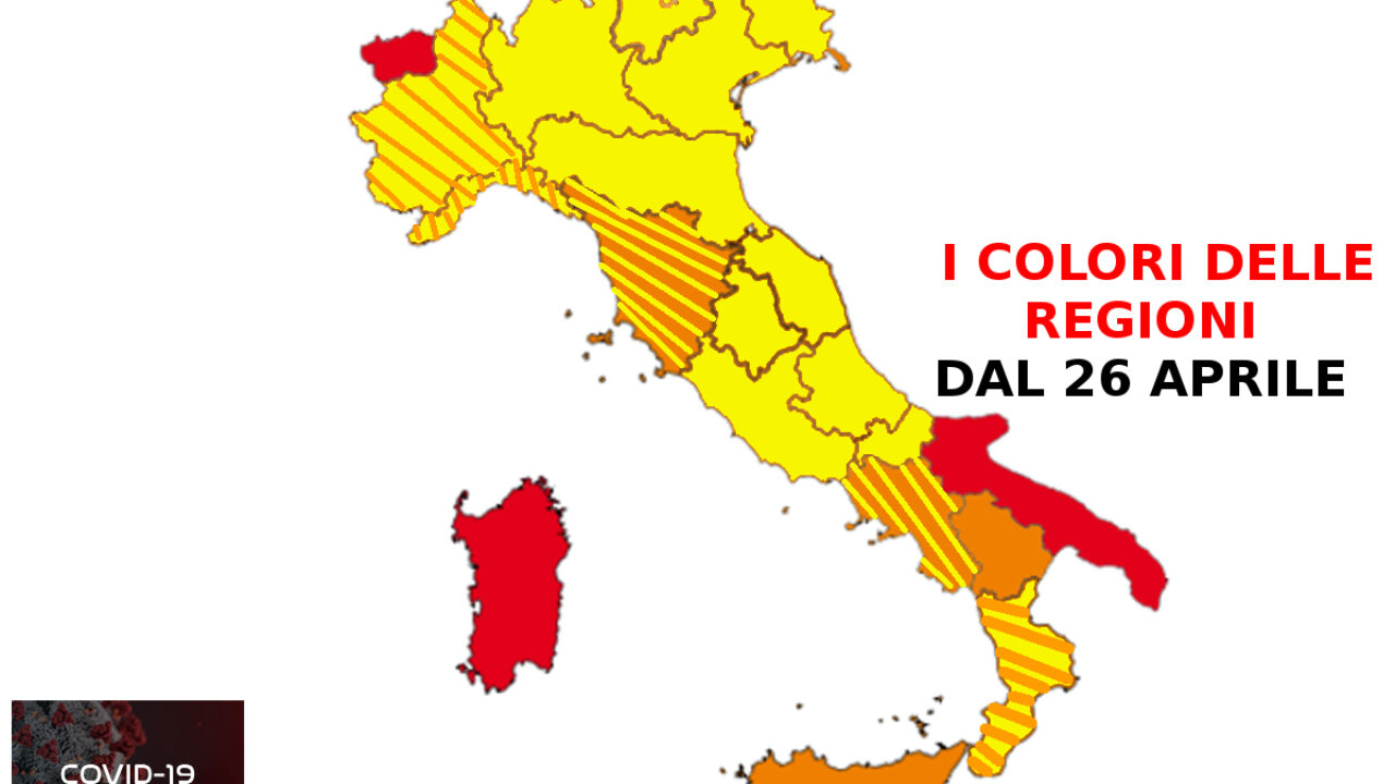 Cartina Italia Immagini.Colori Delle Regioni Zona Gialla Arancione E Rossa Ecco La Possibile Mappa Dell Italia Dal 26 Aprile 2021