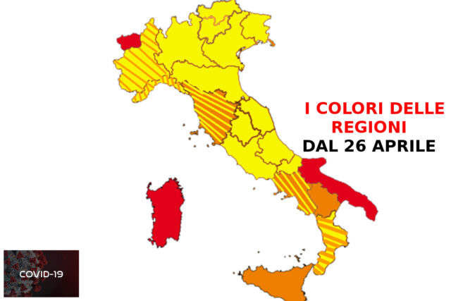 Cartina Italia Politica A Colori.Colori Delle Regioni Zona Gialla Arancione E Rossa Ecco La Possibile Mappa Dell Italia Dal 26 Aprile 2021