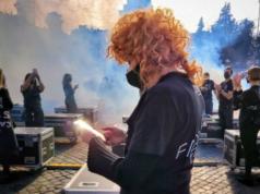 Protesta Roma lavoratori del mondo dello spettacolo
