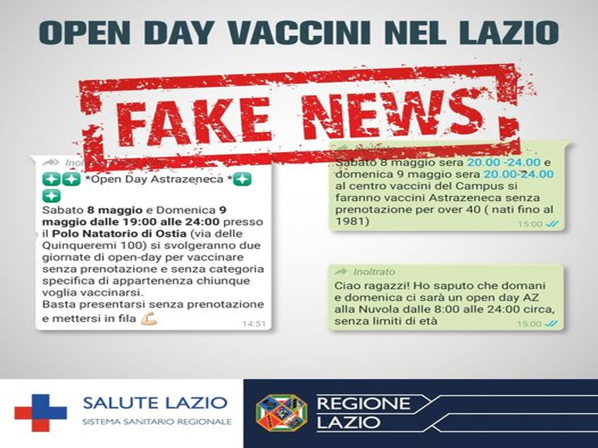 fake news vaccinazioni Lazio
