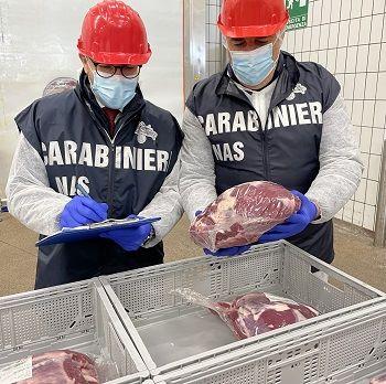 Maxi sequestro carne Roma