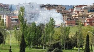 Incendio Parco delle Sabine