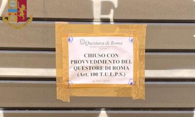 Locali chiusi a Roma