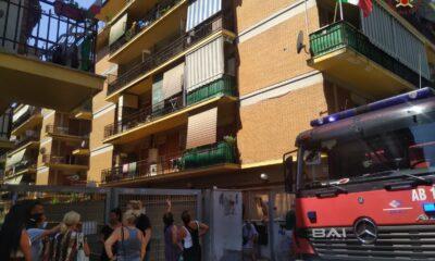 Incendio appartamento Ostia