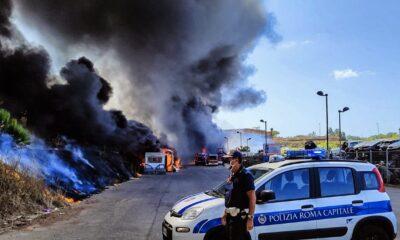 Incendio autodemolitore