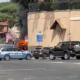 auto in fiamme albano