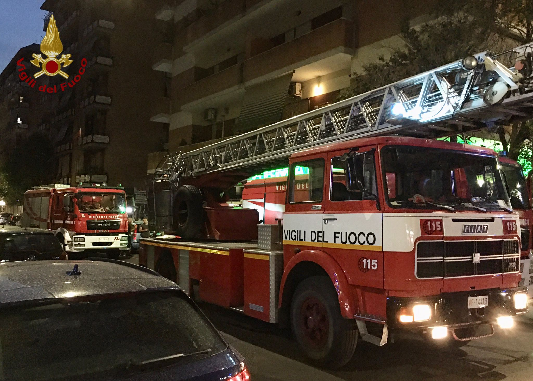 Incendio via Gaio Melisso