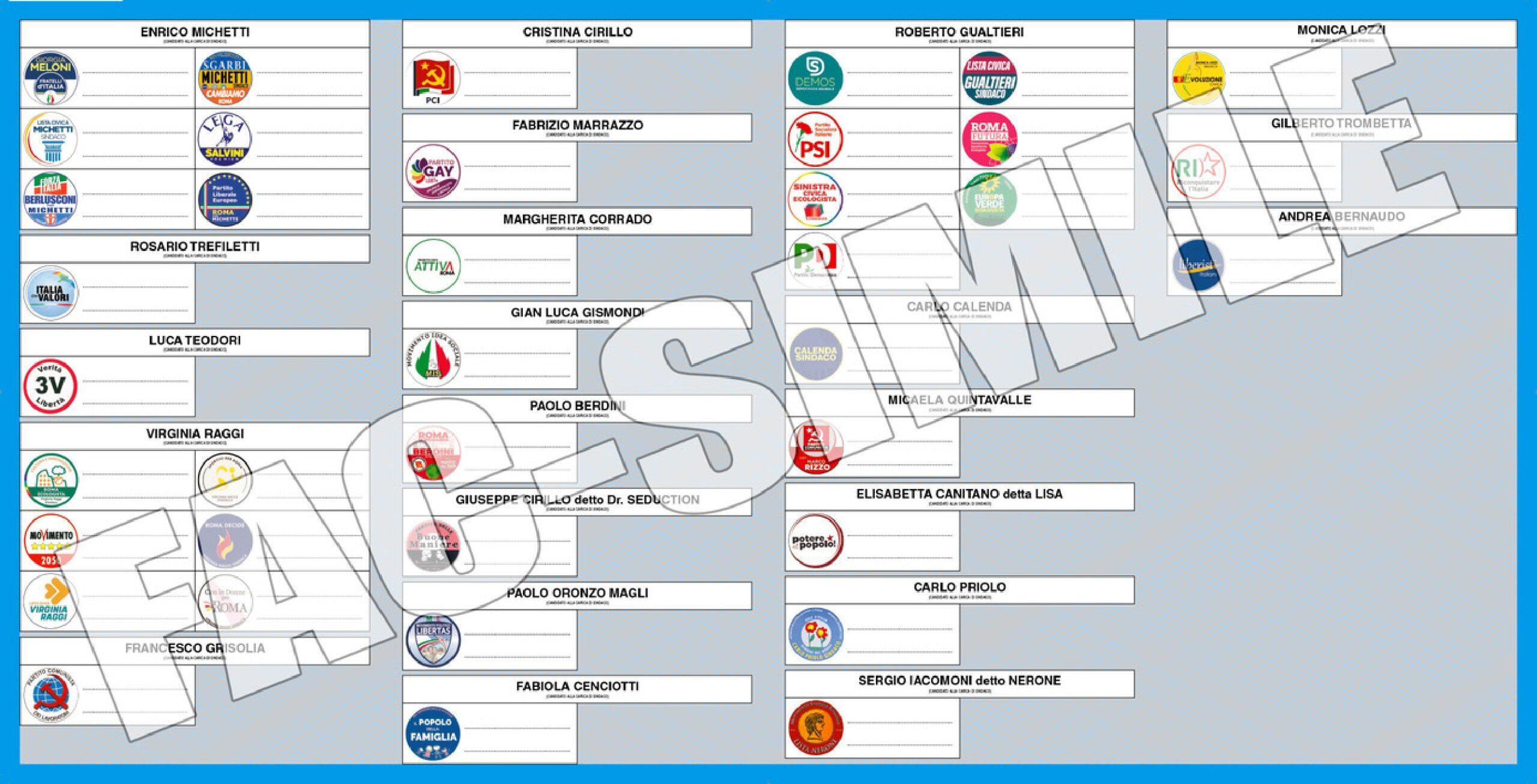Elezioni Roma 2021, il fac simile della scheda elettorale: come si vota il 3 e 4 ottobre 2021