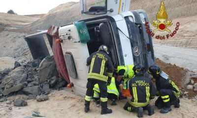 Incidente camion cava