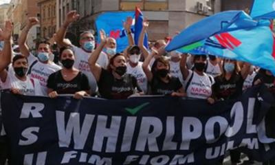 Manifestazione Whrilpool Napoli Elica Ancona 19 ottobre